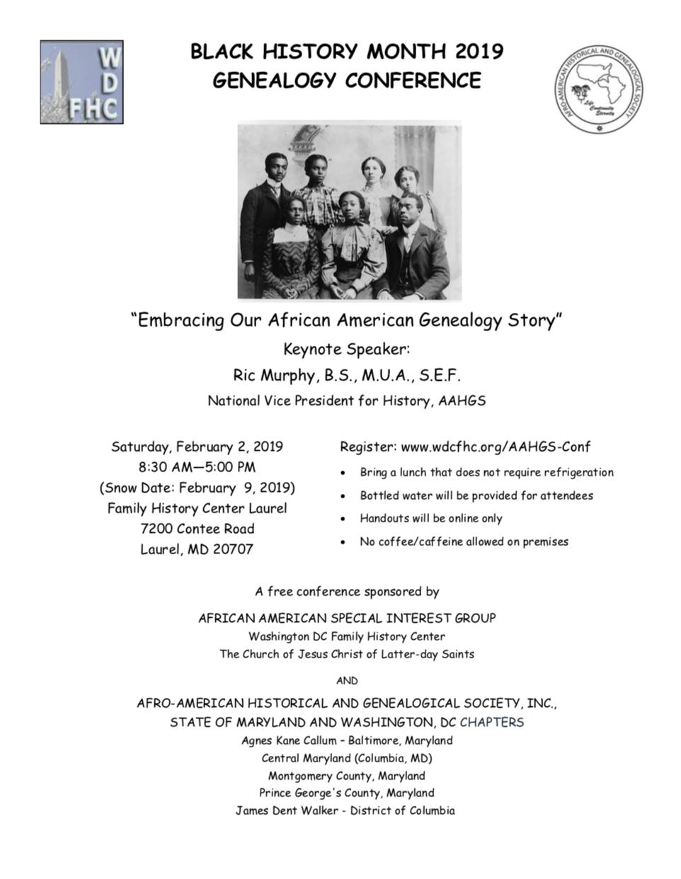 genealogyconf 2feb 8-30am-5pm